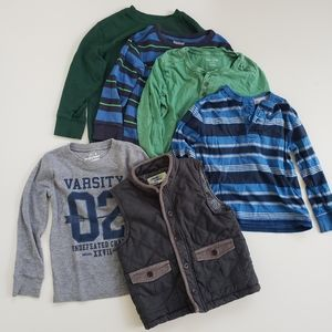 Boys Size 5 5T Lot Of Clothes Long Sleeve Fall Win